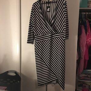 Lane Bryant Dresses - Striped wiggle dress. Lane Bryant 18/20