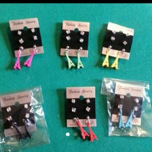 Eiffel tower and studs earrings