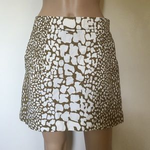J. Crew Dresses & Skirts - J. Crew animal print skirt size 8
