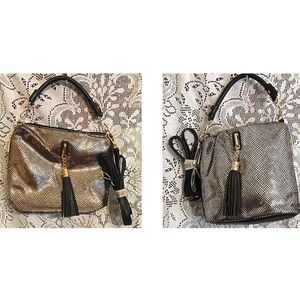 Boutique Handbags - The Carrie Metallic Hobo Bag in Silver or Gold