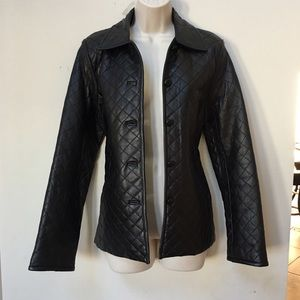 Genuine Leather Black Puffer Jacket