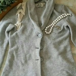 Anthropologie wool blazer with tree