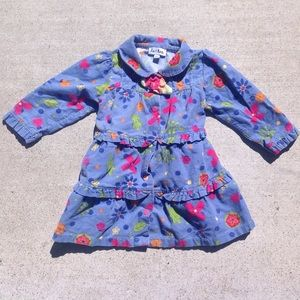 Le Top Other - Le Top Blue Corduroy Flower Dress - 6 Months