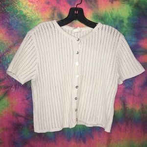 90's vintage knit crop top ✌