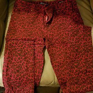 JustFab Leopard Print Jeans