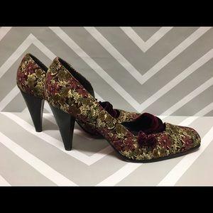 🎉sale🎉 Kenzie Floral Corduroy Heels