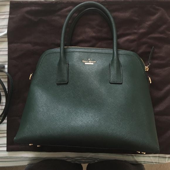 71% off kate spade Handbags - Kate Spade Dark Green Cedar Street ...