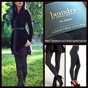 Laundry by Shelli Segal Accessories - FLEECE LINED LEGGINGS / FOOTLESS TIGHTS