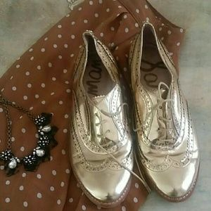 Sam edelman gold oxfords
