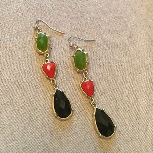 Gorgeous drop earrings - multicolor