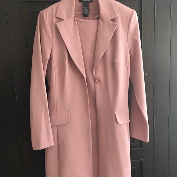 004091f0 Dresses | Pink Sheath Dress With Matching Jacket | Poshmark