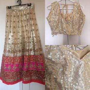 Indian Bollywood Lehenga Sari Dress