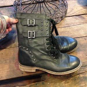 Traffic Shoes - Black Combat Boots