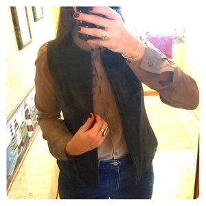 Valerie Stevens Jackets & Blazers - Genuine Black Leather Vest