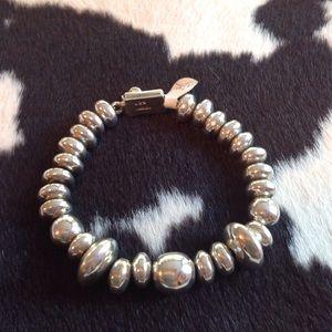 Jewelry - Vintage SS HEAVY BEADED Bracelet 🤑 REDUCED FINAL