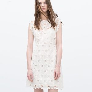 Zara Dresses & Skirts - {Zara} guipure lace stars dress