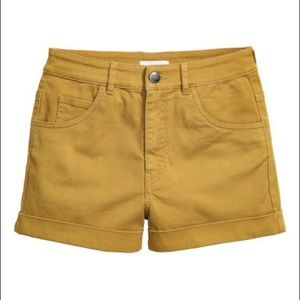 "Super High Rise h&m shorts ""olive"""
