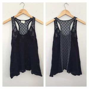 Anthropologie Lace Tank Top