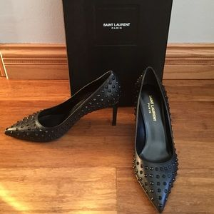 Saint Laurent Shoes - Saint Laurent YSL NEW Studded Pump Size 38.5