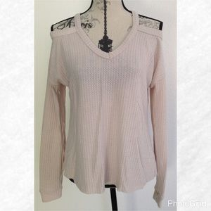 Tops - Cream Waffle Knit Cold Should Long Sleeve