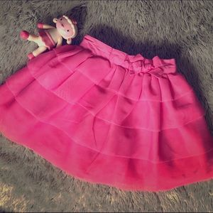 Other - Hot Pink Tiered Ruffle Skirt-EUC