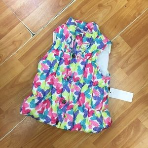 Kids Headquarters Other - Kids Headquarters Colorful Puffy Vest NEW NWT 12 M