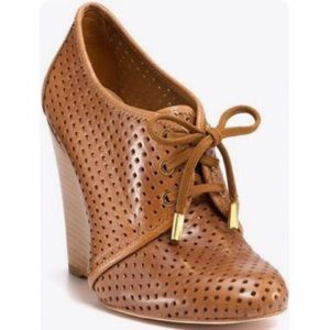Tory Burch Victor Perforated Wedge Booties
