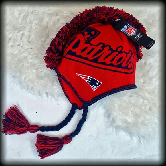 7aa806b7850 NWT Boys Patriots NFL Winter Hat Cap Mohawk