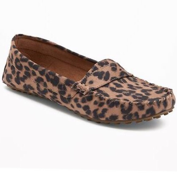 f25b5f6a34b LAST ONE Leopard Print Moccasin Loafer. NWT. Old Navy
