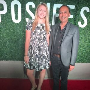 My daughter Anna on the red carpet!