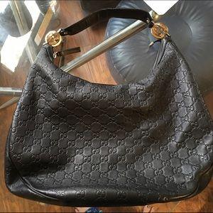 Gucci Handbags - Leather Gucci Shoulder Bag