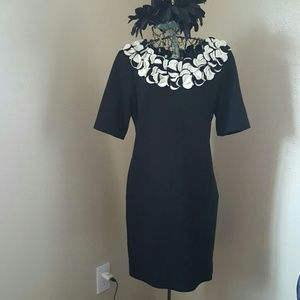 Taylor black fitted dress