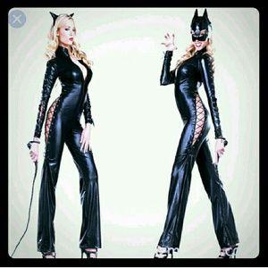 Black catsuit for Halloween