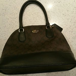 Authentic Coach Mini Cora Domed Leather Satchel 