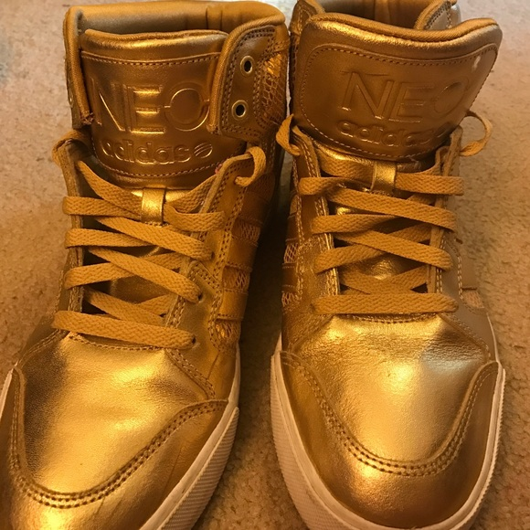 Used NEO label gold shoes men's
