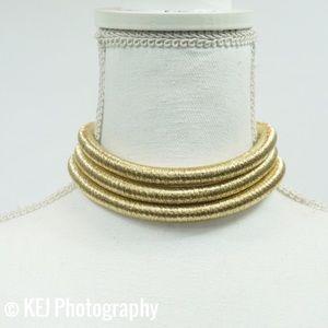Farah Jewelry Jewelry - Multi Level Metalic Choker