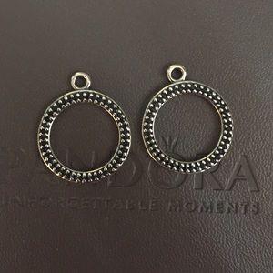 Pandora Black Crystal retired earrings