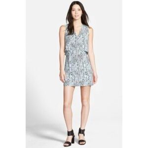 Cooper and Ella with snakeskin printed dress