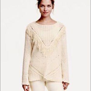 Cream fringe sweater (H&M)