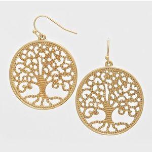 Farah Jewelry Jewelry - Gold Tree of Life Earrings