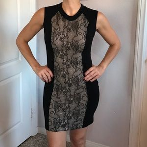 Zara Dress with Nude and Black Lace Size M