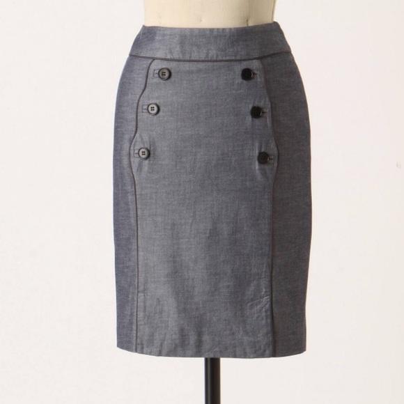 40b492e2f Anthropologie Dresses & Skirts - Anthropologie Scalloped Sailor Skirt Idra 2