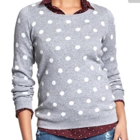 70% off Old Navy Sweaters - Old Navy Polka Dot Sweater from ...