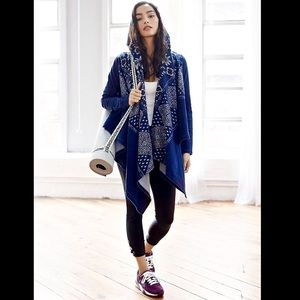 Free People Movement Indigo Blue & White Jacket S