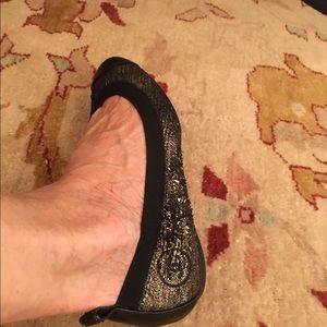 Chanel Shoes - Chanel Metallic Flats
