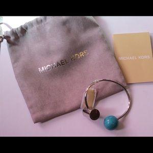 Michael Kors Jewelry - Michael Kors Stone & Barrel Logo Cuff Bracelet