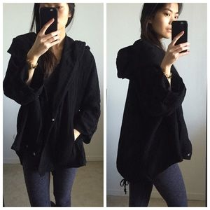 Monoreno Sweaters - ✨SALE✨• Black Oversized High-Low Hoodie