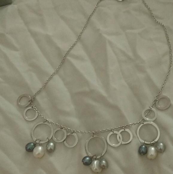 8608b57b8 iridesse , Tiffany & Co Jewelry   Iridesse Pearl And Silver Necklace ...