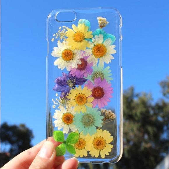 f8b4a885b2eb37 Accessories   New Handmade Pressed Dried Flowers Phone Case   Poshmark