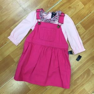 Chaps Pink Jumper Bodysuit NEW NWT 18 Mo